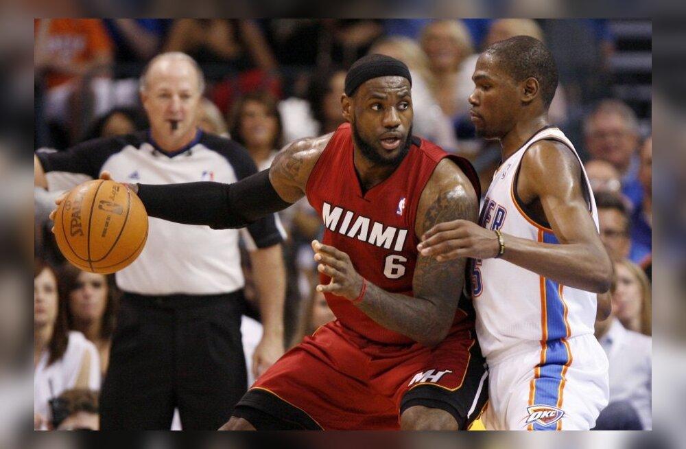 VIDEO: Järjekordne Jamesi ja Duranti duell lõppes Heati võiduga