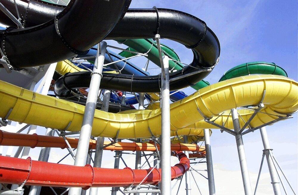В аквапарке Юрмалы появилась 200-метровая трасса для водного скелетона