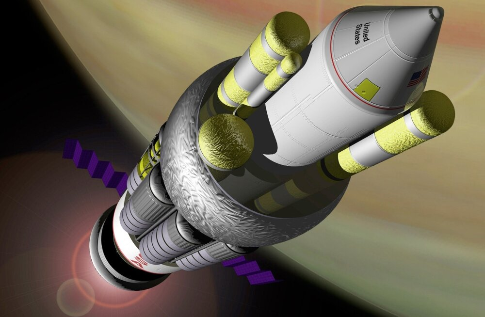 Selline oli NASA ettekujutus projekti Orion tähtedevahelisest tuumakosmoseraketist.