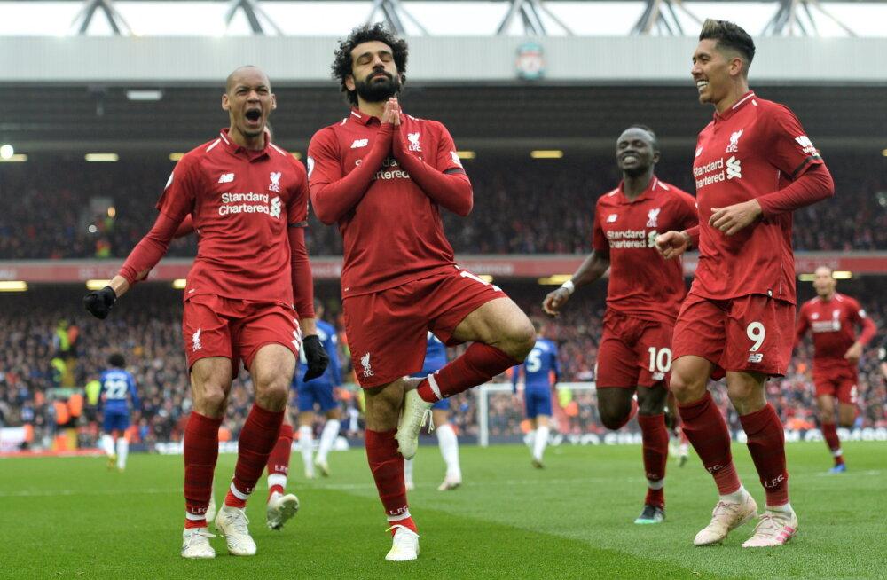 Chelsea vastu koduvõitude põua lõpetanud Liverpool taastas liidrikoha