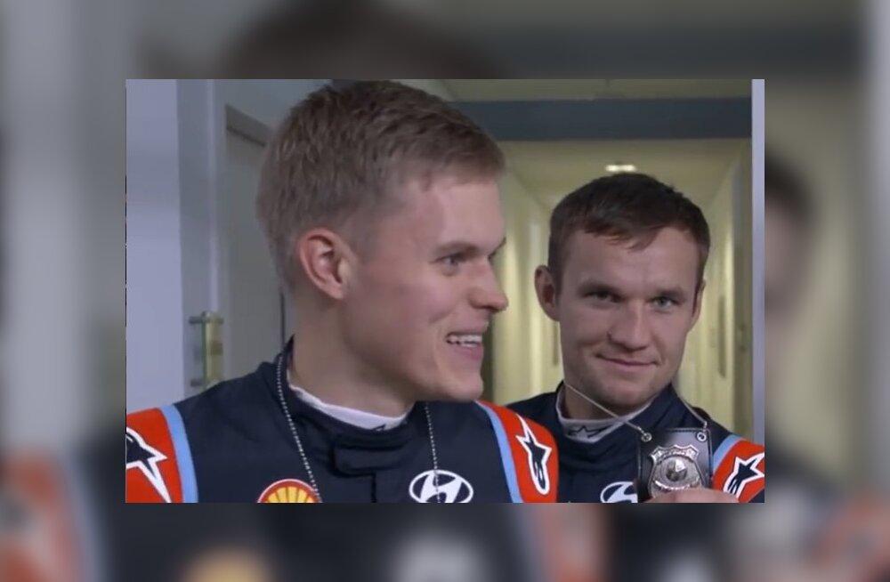 LÕBUS VIDEO | Hyundai WRC meeskonna telgitagused ehk kuidas Neuville üle auto hüppas ja Adamo näitlejaametit proovis