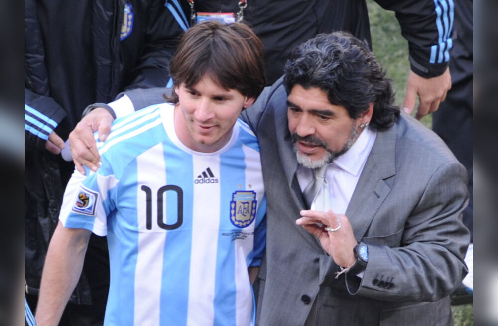 Messi ja Maradona