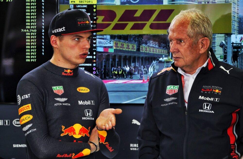 """Red Bulli nõuniku ja noortetiimi juhi Helmut Marko (paremal) """"leid"""" on ka F1 Hollandi komeet Max Verstappen."""