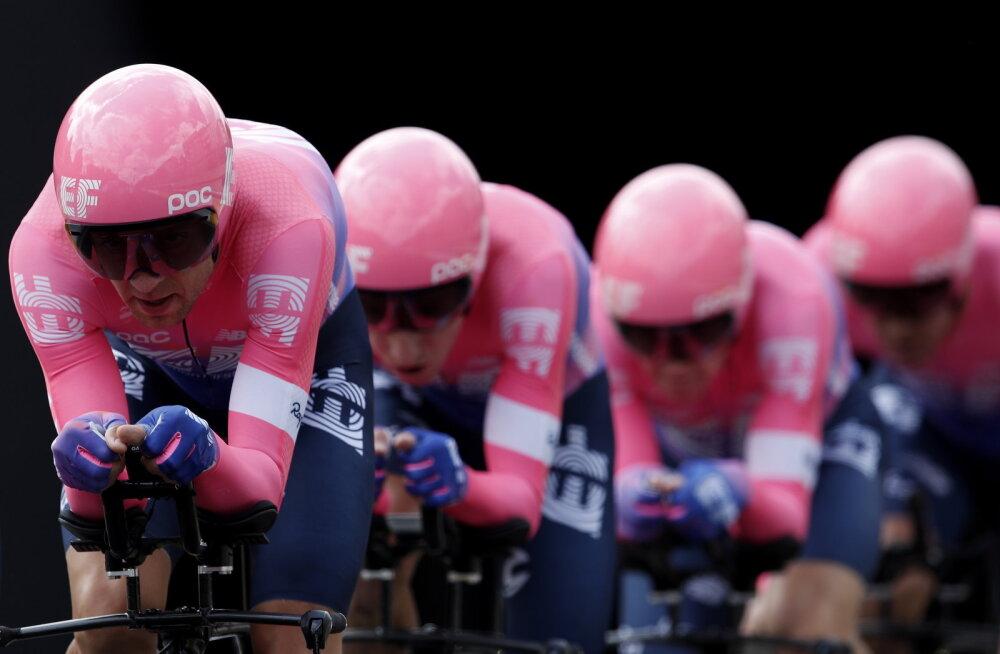 Üldarvestuses 80 kohta tõusnud Kangert oli Tour de France'i teisel etapil tiimiga kõrges mängus