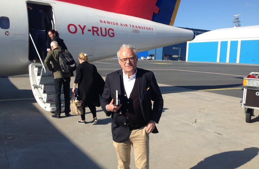 Jan Palmér lendab Taani lennufirma Leedu tütarettevõttelt DOT LT-lt renditud ATR-iga iga nädal koju Rootsi ja tagasi. Tema sõnul on propellerlennuk lennufirmale soodsam, sest kulutab pea poole vähem kütust.