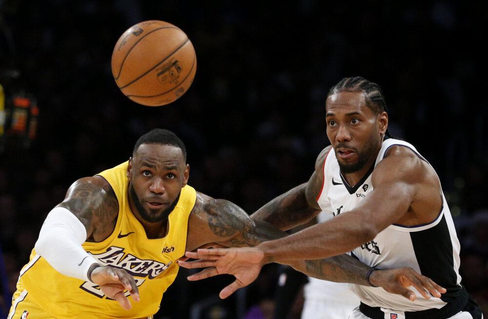 VIDEO   Clippers mängis Lakersi NBA jõuluduellis üle, LeBron Jamesi viigiüritus blokeeriti
