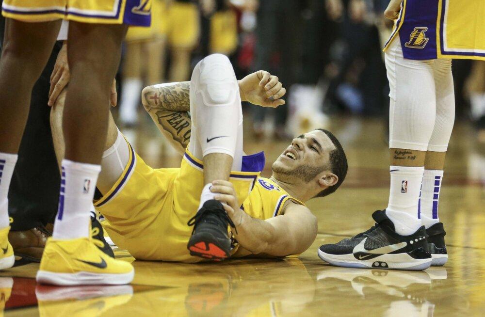 Los Angeles Lakers kardab, et Big Baller tossud lõhkusid Lonzo hüppeliigese