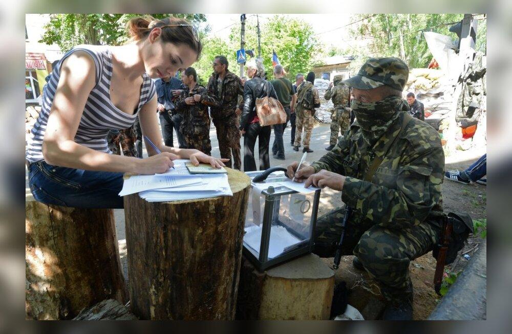 Donetski separatistide teatel hääletas iseseisva vabariigi poolt 89,07 protsenti valijatest