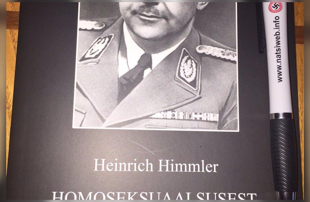 FOTO: Riigikogulasi tabas täna hommikul ebameeldiv üllatus: postkastis lebas Himmleri homovastane teos