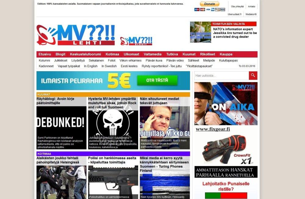 Soome politsei võttis ajakirjaniku ahistamise eest uurimise alla Johan Bäckmani ja valeuudisteportaali MV-lehti väljaandja