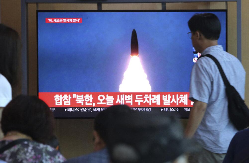 Põhja-Korea katsetas juba kolmandat korda uut tüüpi raketti