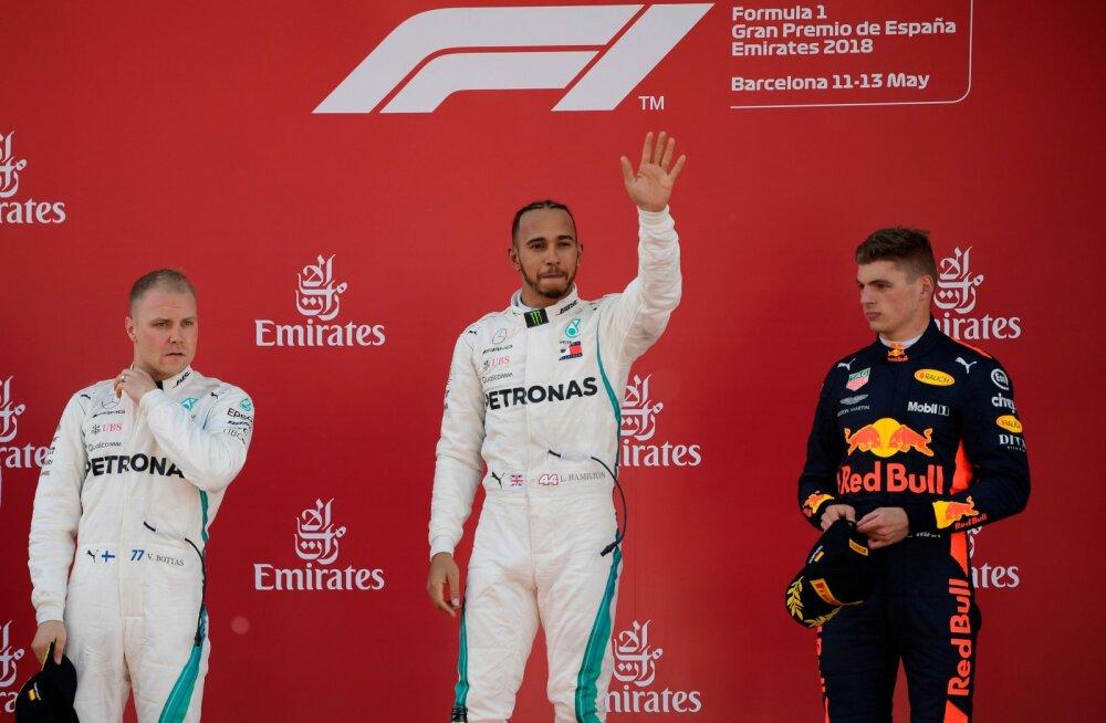 Lewis Hamilton Barcelona etapi võitjana