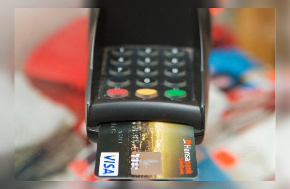 Vaata, kui palju tuleb riigiasutuses kaardiga tasudes pankadele teenustasu maksta