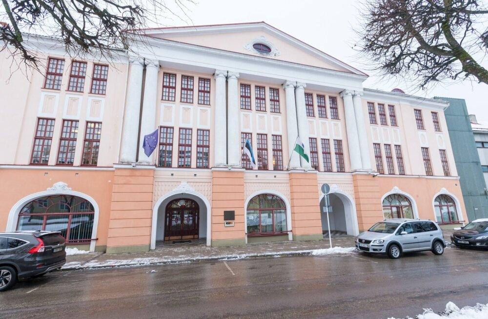 Valga maavalitsuse hoone, kus uuest aastast hakkab tööle maakonna regionaaltalitus.