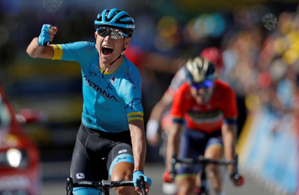 VIDEO | Astana meeskond võidutses teist etappi järjest Tour de France'il
