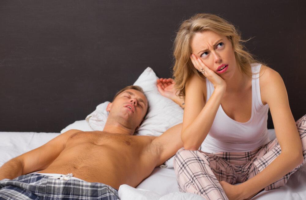 Naine kurdab: mina olen alati valmis müramiseks, aga mees muudkui põikleb voodielust kõrvale