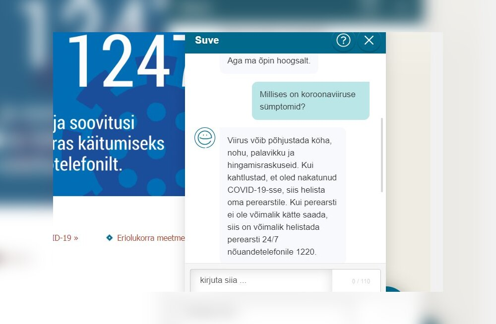 Kriisikomisjon võttis appi vestlusroboti Suve