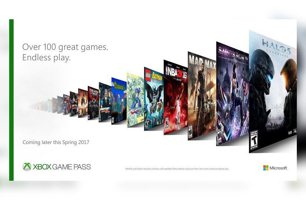 Xboxi mängude Netflix: Microsoft tutvustas teenust Game Pass