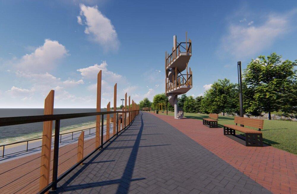 ФОТО и ВИДЕО: Объявлен конкурс на строительство силламяэского морского променада. Смотрите, как он будет выглядеть!