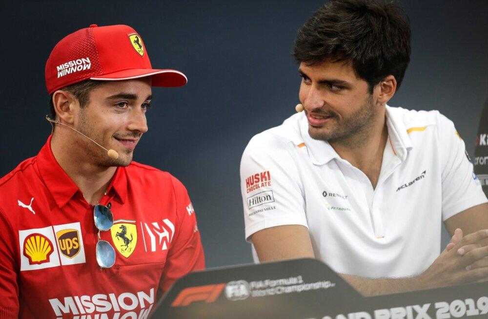 Charles Leclerc (vasakul) ja Carlos Sainz, tulevasest hooajast tiimikaaslased.