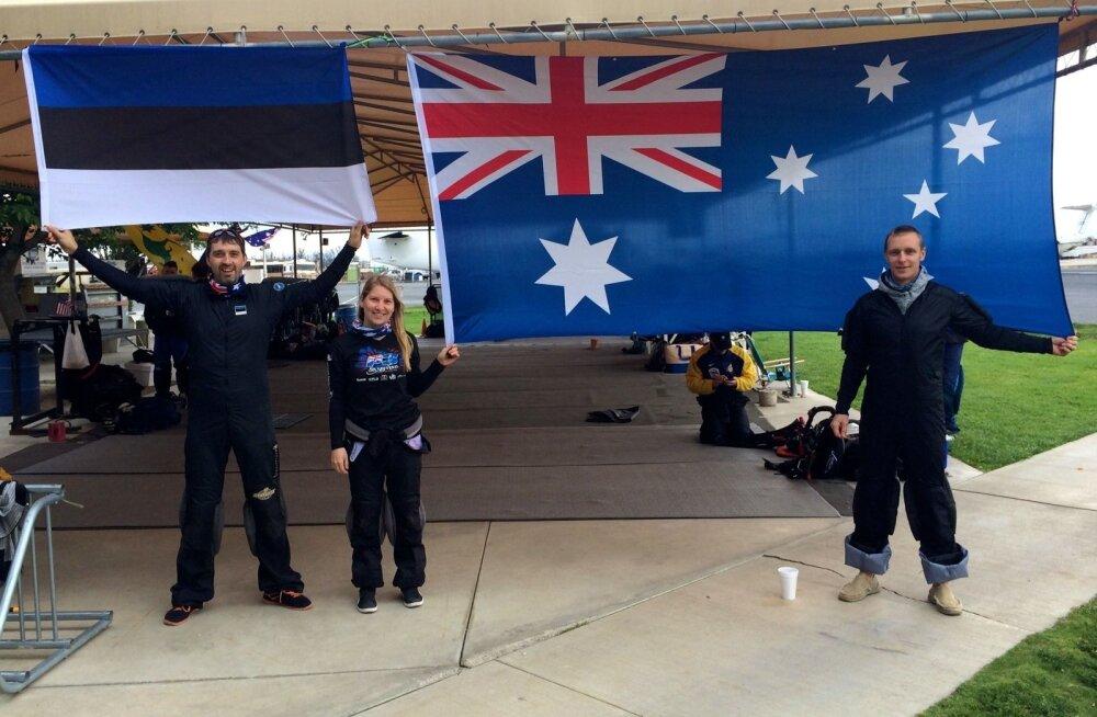 Austraalia rekordi püstitajad Priit Võsu, Merlin Saareste, Andres Villemson