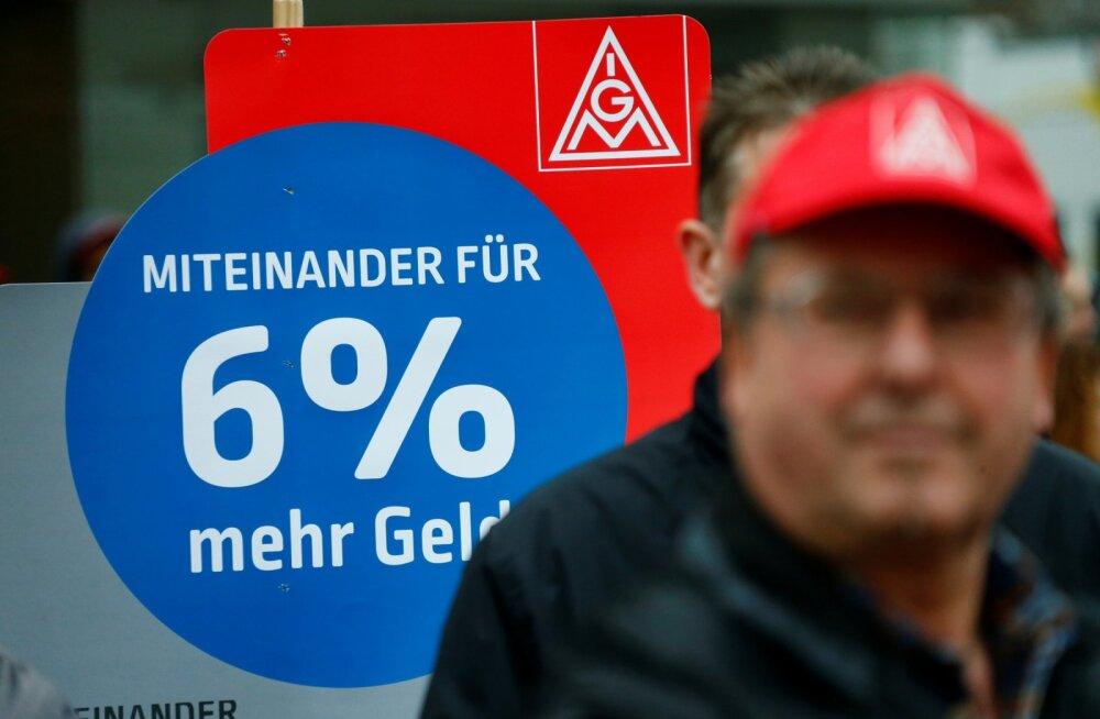 Saksamaa töötajad hakkavad lõpuks kõrgema palga nimel streikima