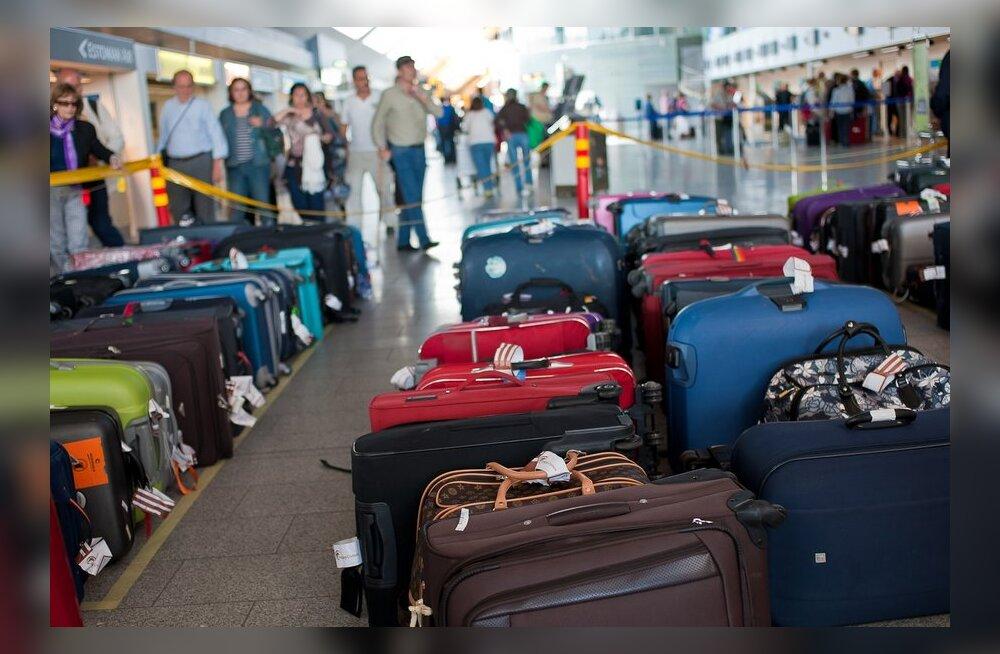 FOTOD pagasimägedest: millisel kuulsusel on reisides enim kohvreid?