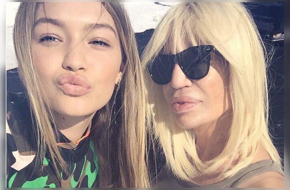 Gigi Hadid ja Donatella Versace