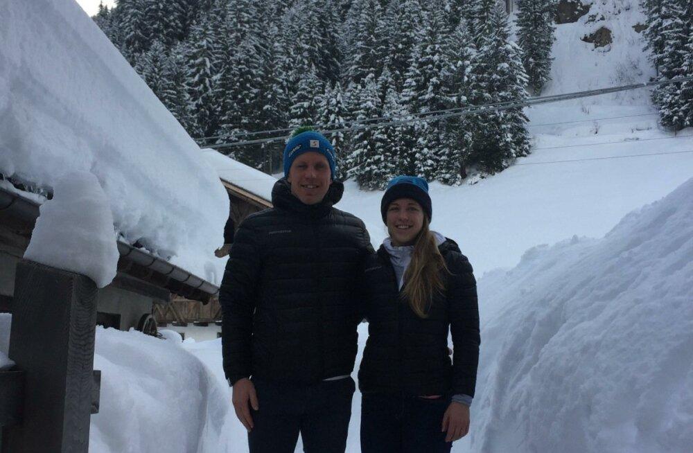 Itaaliasse Ridnauni sõitnud Johan ja Johanna Talihärmi ootasid ees hiiglaslikud lumehanged.