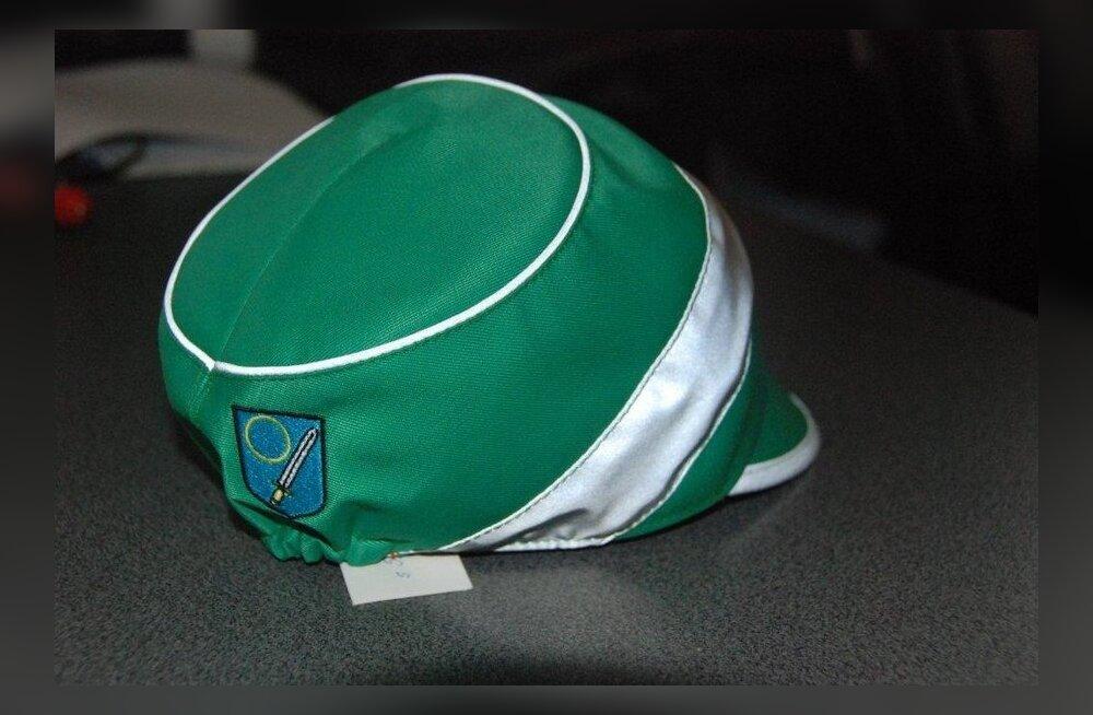 Võrumaa helkurribaga koolimüts