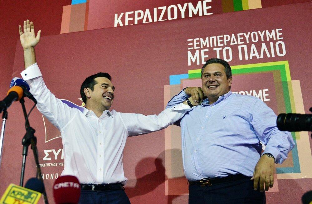 Alexis Tsiprase SYRIZA sai Kreekas selge valimisvõidu