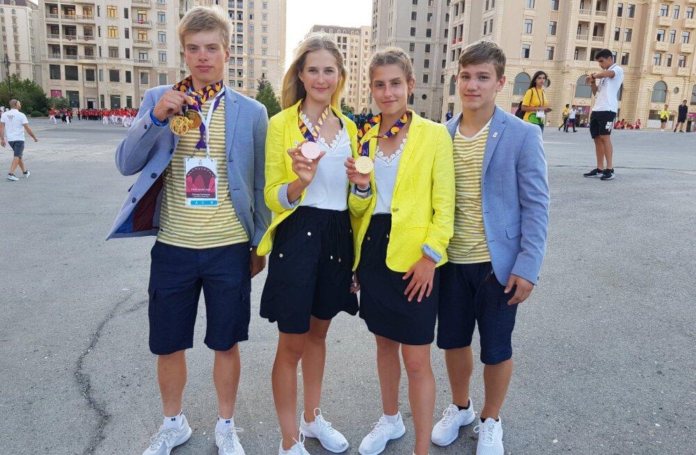 Eesti jõudis Euroopa noorte olümpiafestivali medalitabelis esimesse kolmandikku