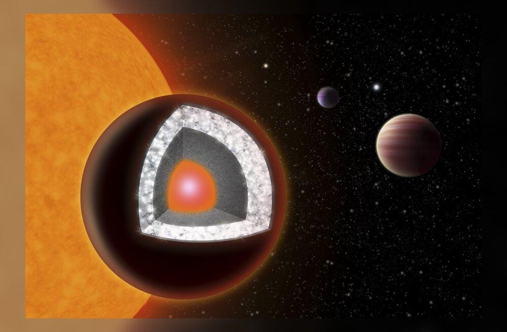 Astronoomid avastasid kosmosest Maast suurema teemandi
