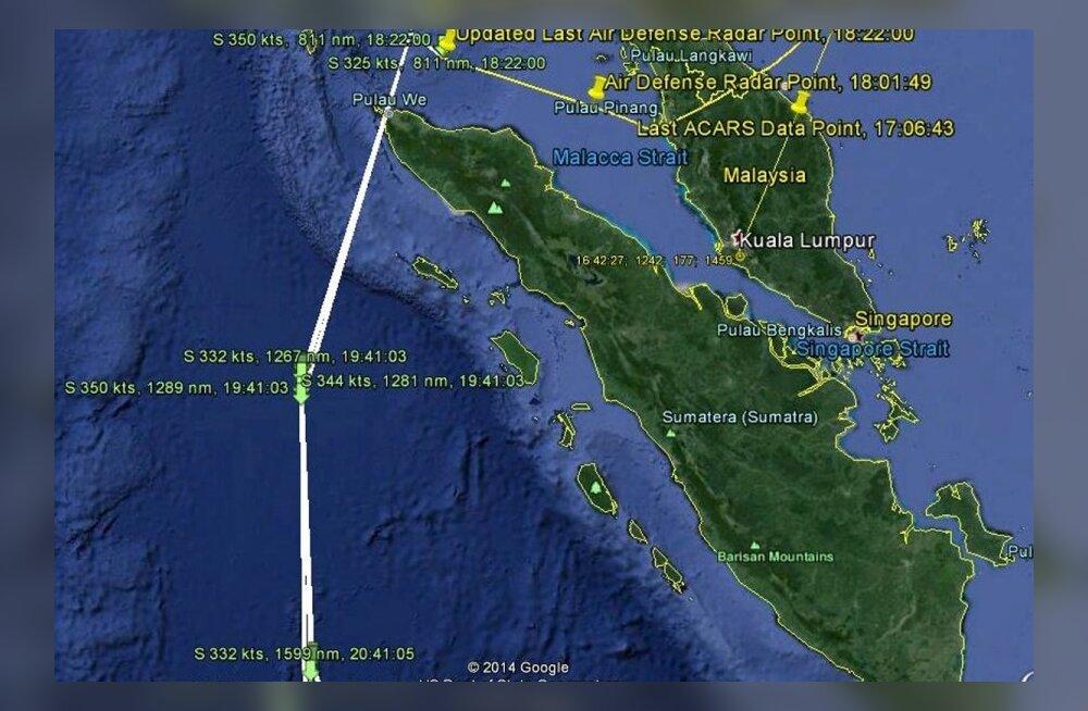 Avaldati kadunud Malaisia reisilennuki ja lennujuhi viimase vestluse salvestus