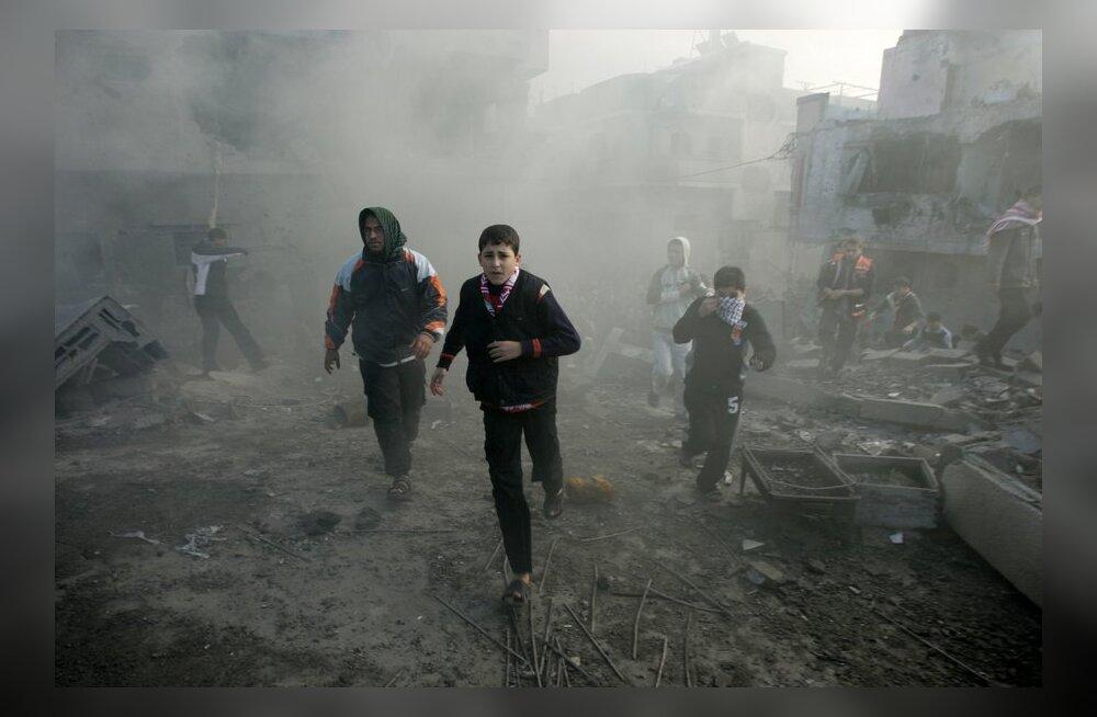 Iisrael pommitas Gaza sektoris Hamasi valitsuse peakorterit