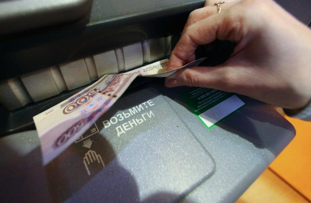 Sberbanki sularahaautomaat.