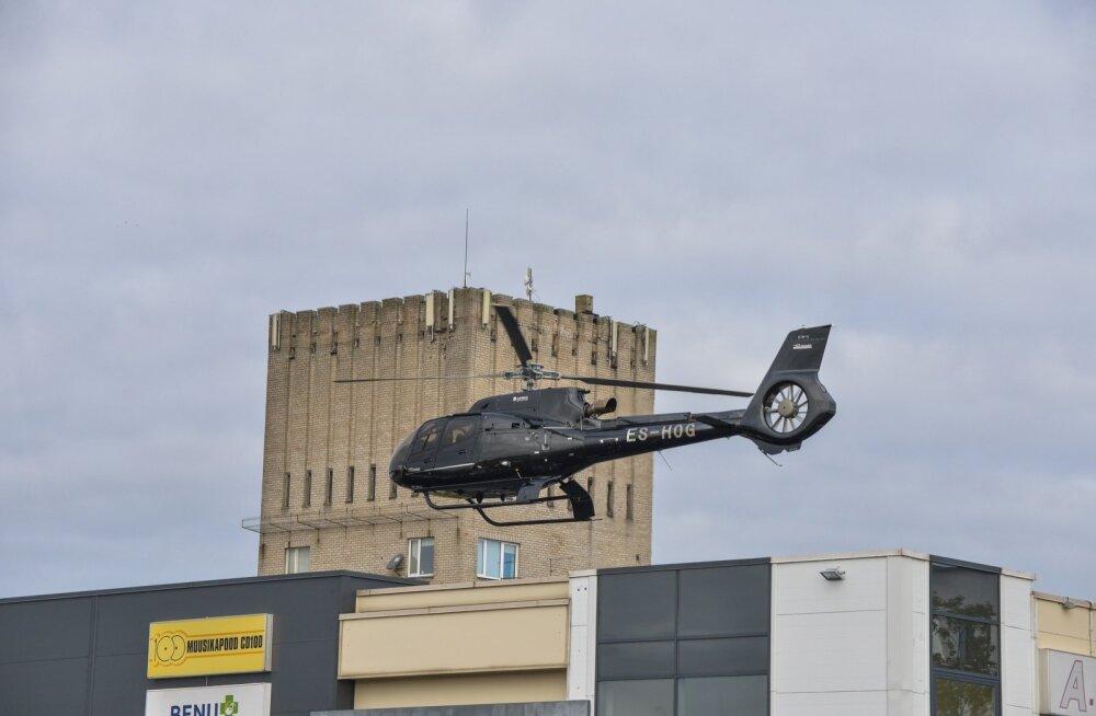 Oleg Grossi helikopter Mulgi Marketi katusel