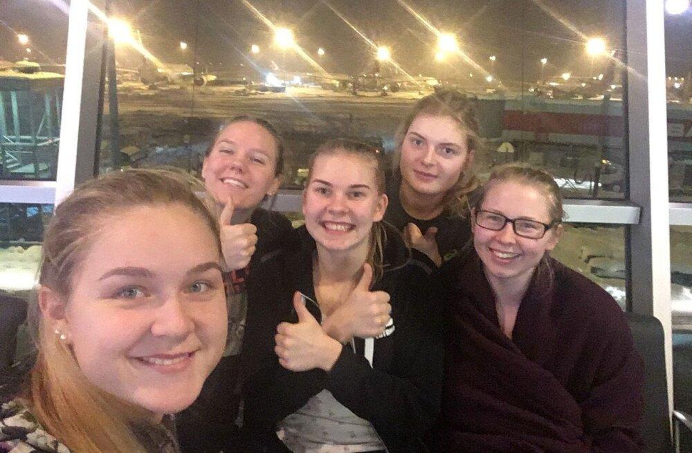 Eesti koondislased Istanbuli lennujaamas