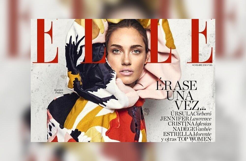 Eriti moekas! Modell Karmen Pedaru kaunistab ülemaailmse moeajakirja Elle kaant