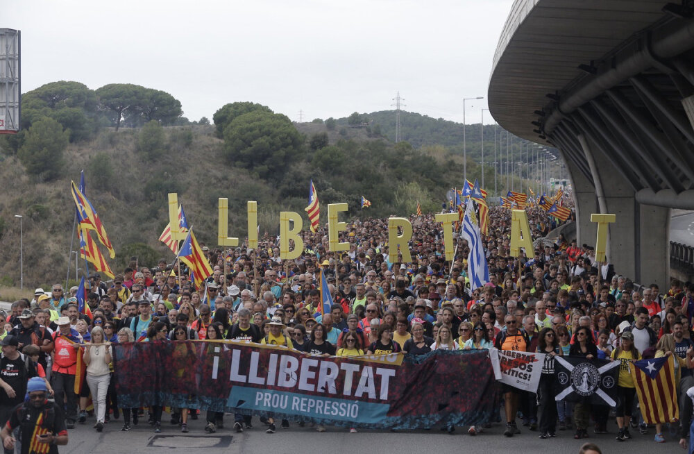 Barcelonas peaks täna toimuma praeguse protestilaine suurim meeleavaldus