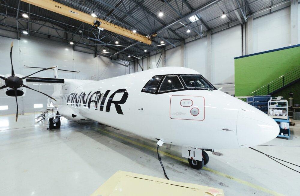 Finnairi lennukid Magnetic MRO juures remondis