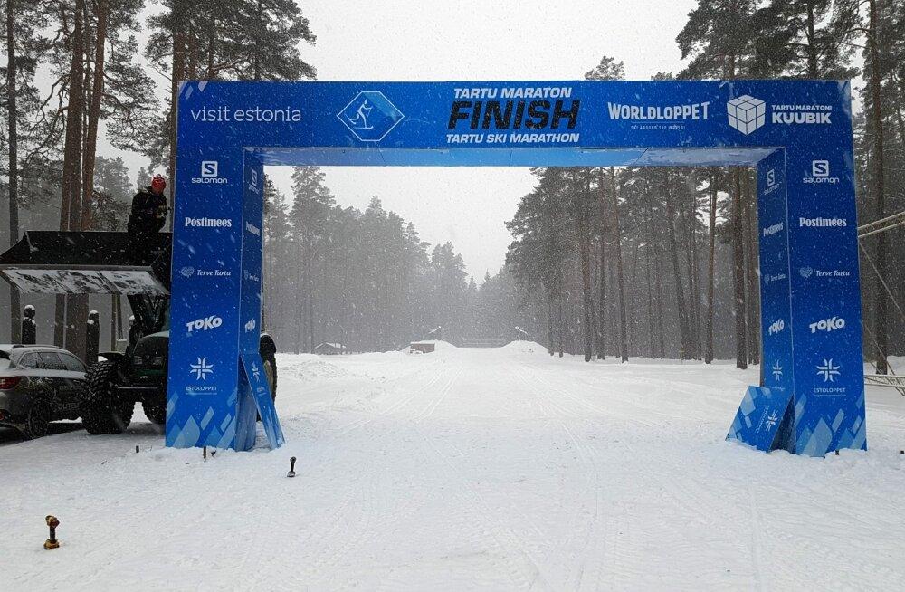 Töö käib! Tartu Maratoni finišipaik Elvas 29. jaanuaril