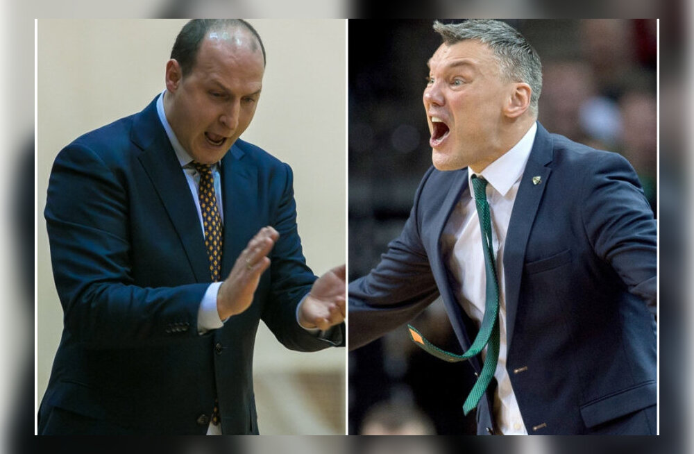 Suure mängu ootuses: Šarunas Jasikevicius ja Roberts Štelmahers - kaks suurt mängujuhti, kaks karmi treenerit