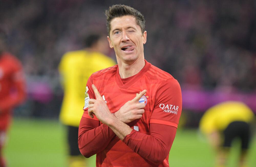 Müstilises hoos Lewandowski vedas Bayerni kindla võiduni tulise rivaali Dortmundi üle