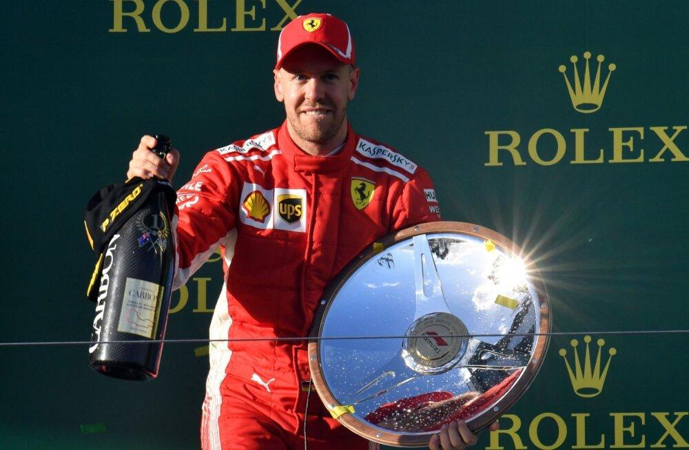 Austraalia GP võitnud Sebastian Vettel