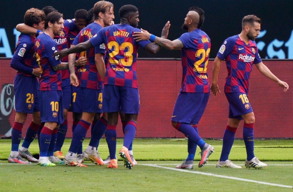 Pilt on illustratiivne. Barcelona jalgpallurid.