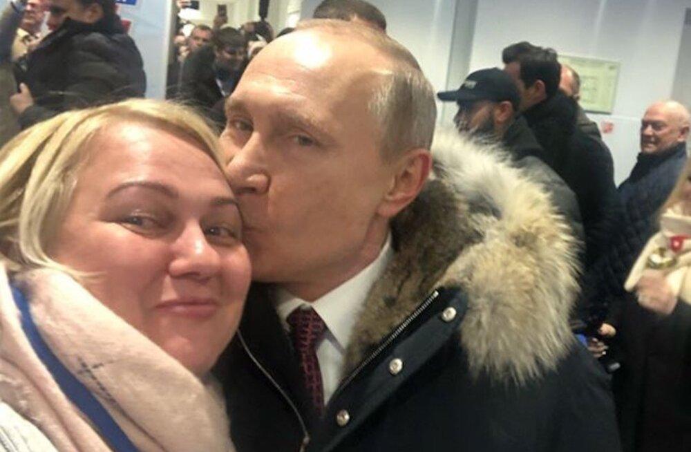PÄEVA PILT | Teeb ikka kadedaks küll, Putin üllatas üht fänni ja tegi talle kaunima kingi – suudluse laubale!
