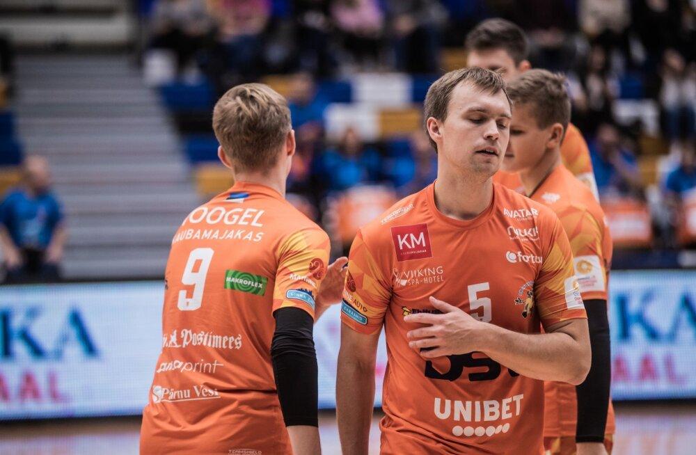 Võrkpalli Eesti karikavõistluste veerandfinaal Tartu Bigbank - Pärnu VK