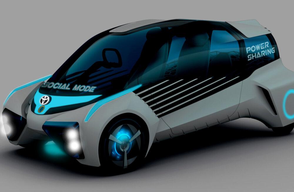 Toyota vallutab Jaapanis autonäitust kolme tulevikuautoga korraga