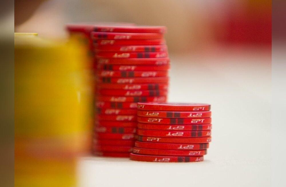 12 eestlast jätkavad jahti Euroopa pokkeriturnee 275 000-eurosele esikohale